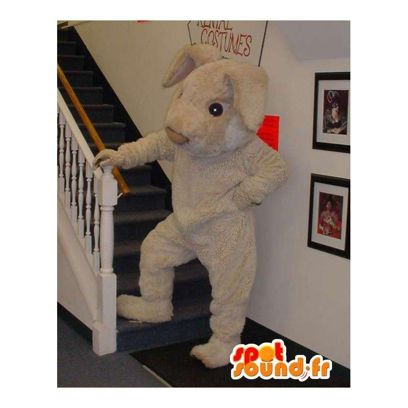 Mascot gigante conejo beige - Traje de Conejo - MASFR003311 - Mascota de conejo