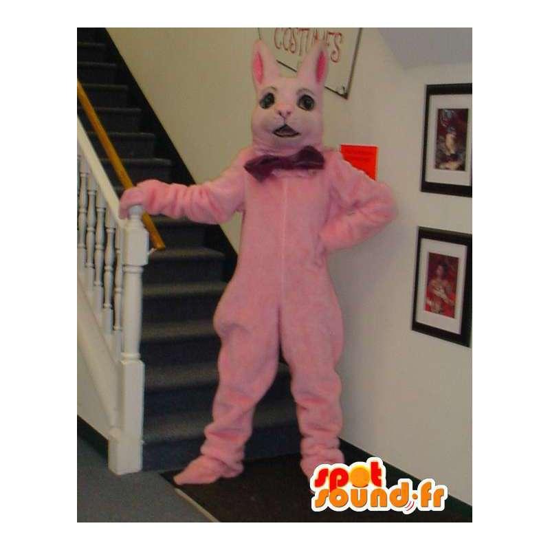 Mascot riesige rosa Häschen - rosa Häschenkostüm - MASFR003312 - Hase Maskottchen