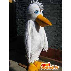 Basic Weiß Pelikan-Maskottchen - Vogel-Kostüm für Partei - MASFR00252 - Maskottchen der Vögel
