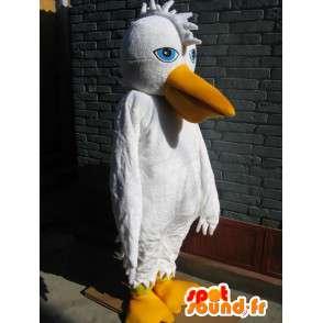Maskotti perusvalkoinen Pelican - iltapuku Bird - MASFR00252 - maskotti lintuja
