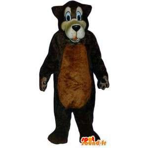 Wolf-Maskottchen Plüsch braun - braun Wolf Kostüm - MASFR003319 - Maskottchen-Wolf