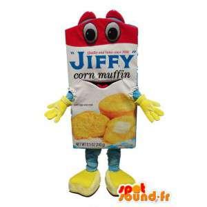 Mascotte de brique de jus de fruit - Costume de jus de fruit