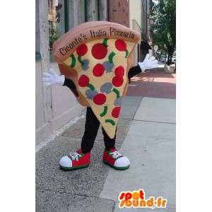 巨大なピザのスライスの形をしたマスコット-MASFR003333-ピザのマスコット
