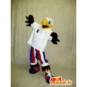Kotka maskotti pukeutunut värit America - MASFR003341 - maskotti lintuja