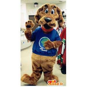Brown mascotte peluche cane - Cane Costume - MASFR003342 - Mascotte cane