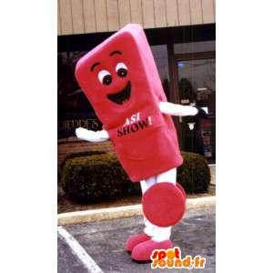 Reus uitroepteken Mascot - Rood uitroepteken - MASFR003344 - mascottes objecten
