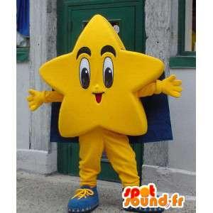 Mascot vorm van een reusachtige gele ster - Star Costume - MASFR003353 - Niet-ingedeelde Mascottes