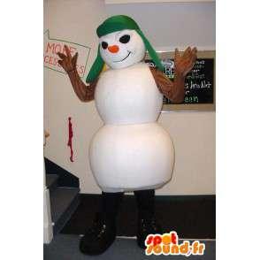 Mascotte de bonhomme de neige blanc, méchant  - MASFR003356 - Mascottes Homme