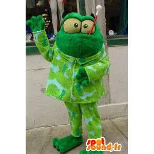 Vihreä sammakko Mascot Pehmo - Sammakko Costume - MASFR003360 - sammakko Mascot