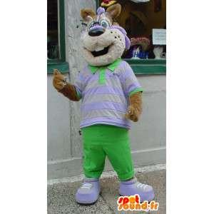 Orava maskotti pukeutunut vihreä ja valkoinen - orava Suit - MASFR003362 - maskotteja orava