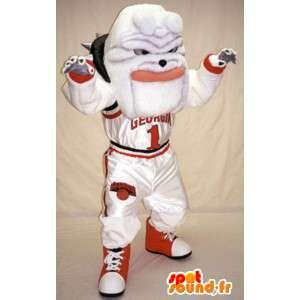 Mascot Valkoinen bulldoggi - bulldog puku - MASFR003366 - koira Maskotteja