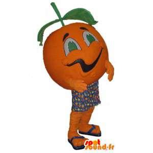 Mascot muotoinen jättiläinen oranssi - oranssi puku