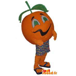 Mascot in the form of giant orange - orange Disguise - MASFR003371 - Fruit mascot