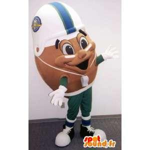 Amerikansk fotboll bollmaskot - Rugby boll - Spotsound maskot