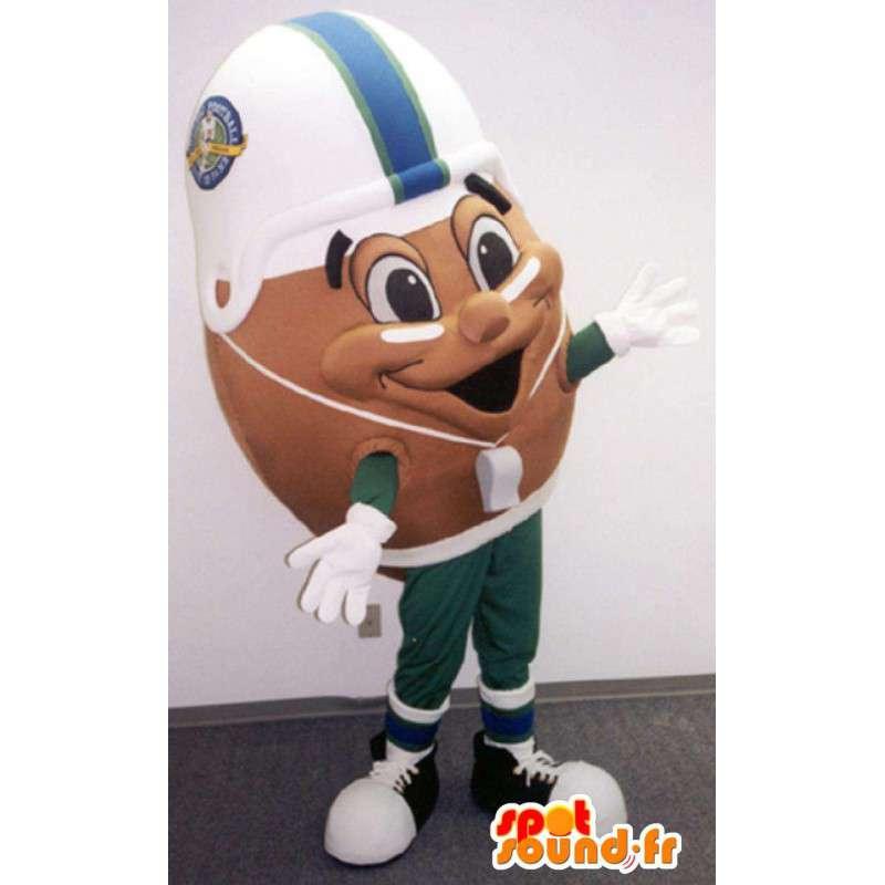 Mascotte de ballon de football américain - Ballon de rugby - MASFR003374 - Mascotte sportives