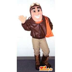 Aviator Mascot - Vermogen Pilot Costume - MASFR003381 - man Mascottes