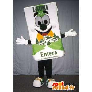 Mascot baksteen reus melk - melkpak kostuum - MASFR003384 - Niet-ingedeelde Mascottes