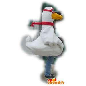 Mascot cisne ganso gigante - Traje Cisne - MASFR003387 - Cisne de mascotas