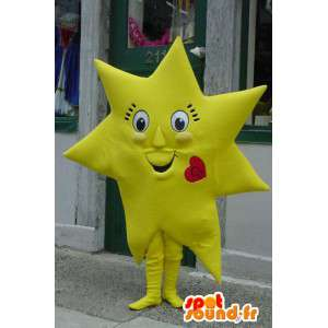 Mascot gigantiske gule stjernen - Giant stjerne Costume
