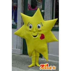 Mascotte d'étoile jaune géante - Costume d'étoile géante