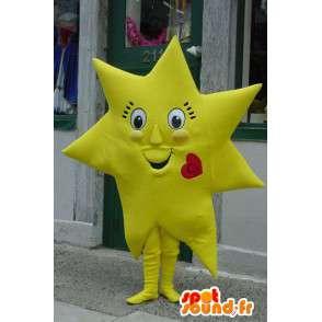 Mascotte d'étoile jaune géante - Costume d'étoile géante - MASFR003388 - Mascottes non-classées