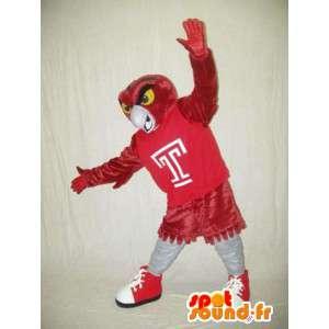 Maskot červený pták obřích rozměrů - Ptačí Kostým
