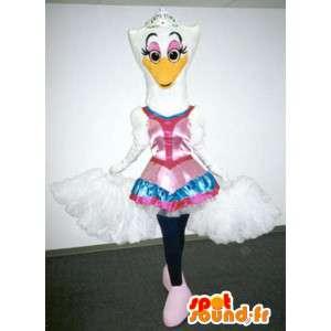 ダンサーとしての白い白鳥のマスコット-ダンサーの衣装-MASFR003391-白鳥のマスコット