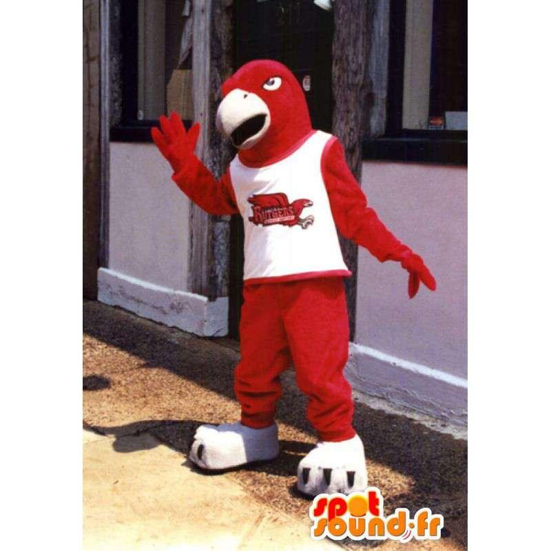 Mascotte d'oiseau rouge de taille géante - Costume d'aigle - MASFR003392 - Mascotte d'oiseaux