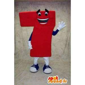 Maskotka numer 7 Red - Kostium figura 7 - MASFR003393 - Niesklasyfikowane Maskotki