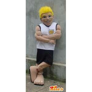 Maskot svalnatý sportovec - basketbal Costume