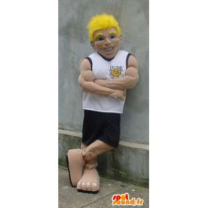 Muscular man mascot sports - basketball Costume