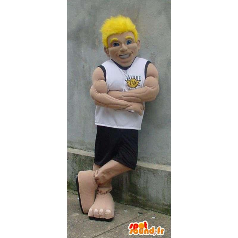 Mascotte d'homme sportif musclé - Costume de basketteur - MASFR003397 - Mascottes Homme