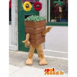 マスコットの巨大な植木鉢-花の衣装-MASFR003402-植物のマスコット