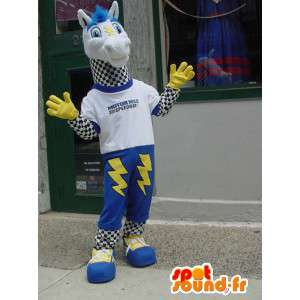 Mascot horse with lightning