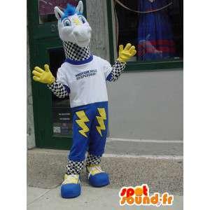 Mascote cavalo com flashes