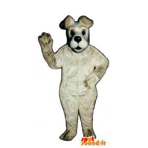 Dog mascot white - white dog costume - MASFR003447 - Dog mascots