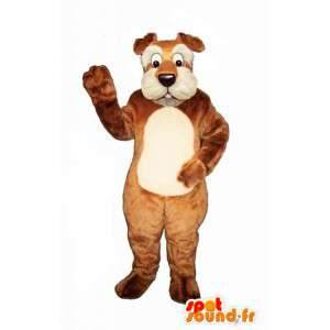 Mascot dog brown and white - toy dog costume - MASFR003448 - Dog mascots