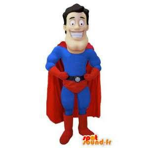 Mascote super-herói - Traje Superman - MASFR003469 - super-herói mascote