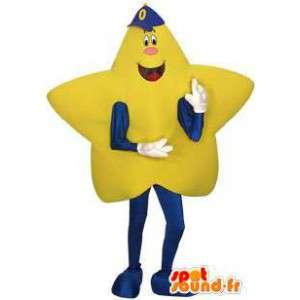 Mascot estrela amarela gigante - Traje estrela gigante