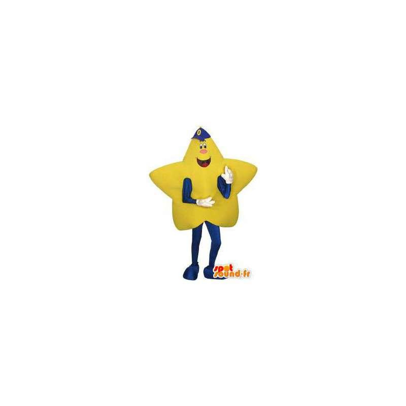Mascotte d'étoile jaune géante - Costume d'étoile géante - MASFR003475 - Mascottes non-classées