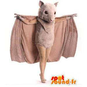 Maskotti beige bat - bat Costume - MASFR003476 - hiiri Mascot