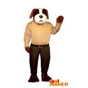 Hund maskot kledd som sheriff - Dog Costume - MASFR003484 - Dog Maskoter