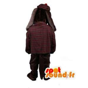 Mascotte bruin cocker spaniel gekleed in het Schots - Dog Costume - MASFR003494 - Dog Mascottes