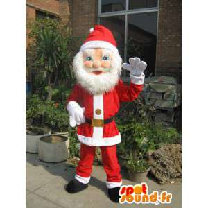 Weihnachtsmann-Maskottchen - Evolution - Bart und rote Weihnachts-Outfit - MASFR00264 - Weihnachten-Maskottchen