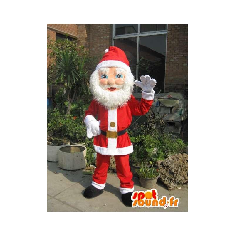 Babbo Natale Mascot - Evolution - Beard e rosso costume di Natale - MASFR00264 - Mascotte di Natale
