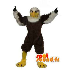 Mascot eagle brown and white - Disguise stuffed eagle - MASFR003497 - Mascot of birds