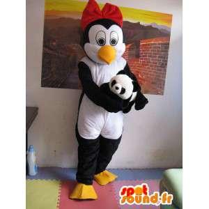 ペンギンのマスコット(e)Linux-ペンギンの女性-アクセサリー付き-MASFR00266-女性のマスコット