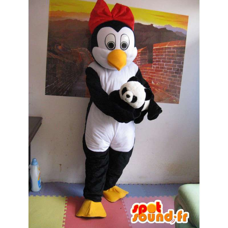 Mascot Penguin (e) Linux - Nainen Penguin - Lisävarusteilla - MASFR00266 - Mascottes Femme