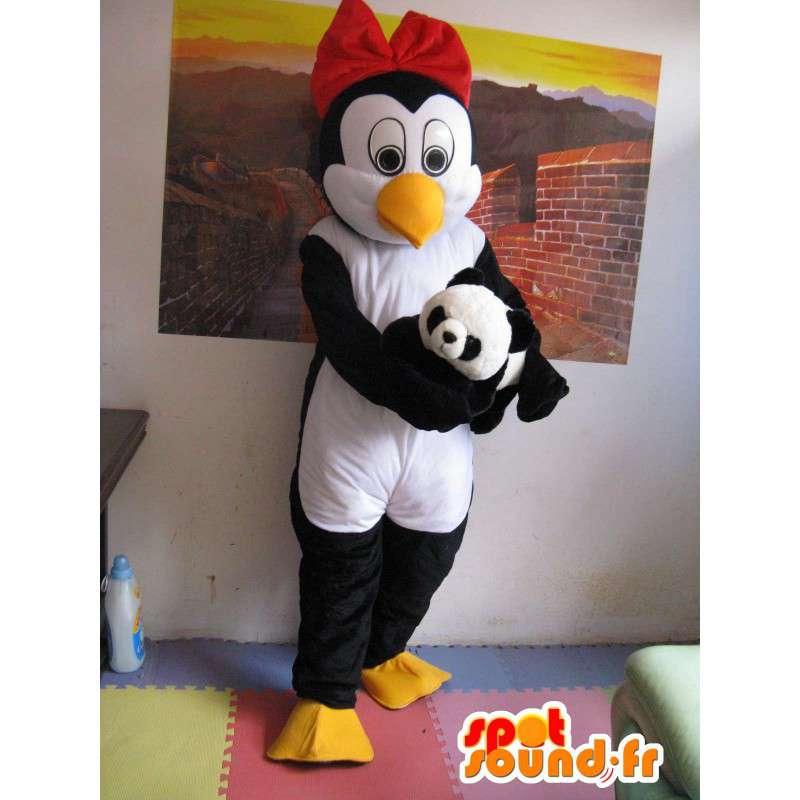 Penguin Mascot (e) Linux - Femmina Pinguino - con accessori - MASFR00266 - Donna di mascotte