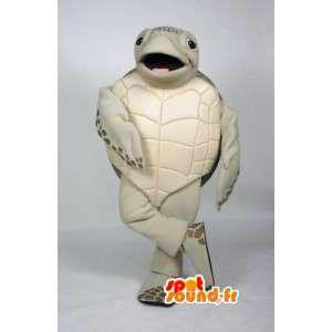 Mascot beige y marrón de la tortuga - Turtle vestuario - MASFR003505 - Tortuga de mascotas